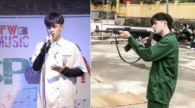 """Nam sinh đẹp trai xuất thần trong buổi tập quân sự lại hát cực hay khiến chị em """"phát cuồng"""""""