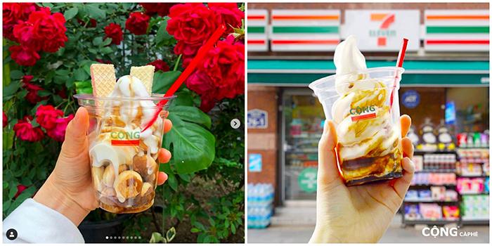 """Cộng Cà Phê tiếp tục """"gây sốt"""" tại Hàn Quốc khi bán kem cà phê dừa trong chuỗi cửa hàng tiện lợi 7-Eleven"""