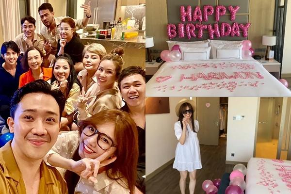 """Lấy chồng thị phi nhưng Hari Won vẫn sướng như tiên, Trấn Thành thuê hẳn villa """"chanh sả"""" mừng sinh nhật"""