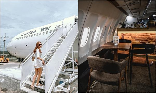 """Sốt xình xịch Tiệm cafe trong thân máy bay """"xịn xò"""" mới xuất hiện"""