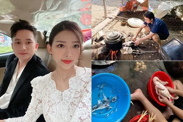 Phan Mạnh Quỳnh về quê ra mắt nhà người yêu mà thịt gà, làm cơm đảm đang hết sức