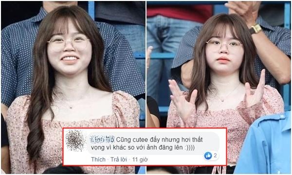 """Huỳnh Anh lại bị chê bai nhan sắc khi để mặt """"trắng bệch"""" đi cổ vũ Quang Hải sau lùm xùm lộ tin nhắn"""