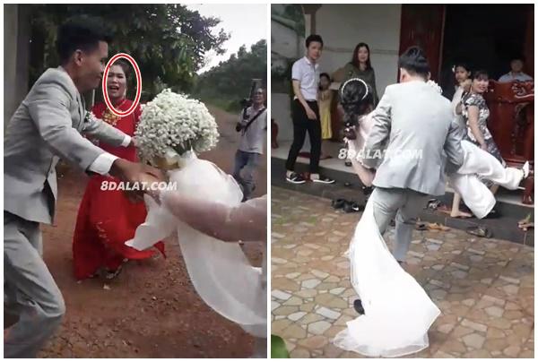 Có bầu trước bị mẹ chồng bắt đi cửa sau, chú rể bế thốc cô dâu chạy vào cửa chính: Chồng tốt là đây chứ đâu?