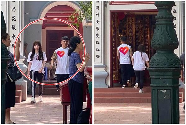 """Hậu scandal """"nhún nhảy"""", Quang Hải dẫn Huỳnh Anh đi lễ Phủ Tây Hồ, dân mạng đoán """"cầu không bị hack Facebook"""""""
