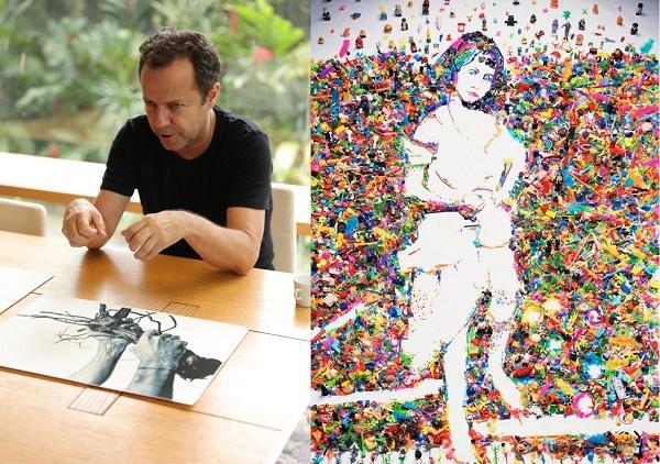 """Độc đáo các bức tranh """"vẽ"""" bằng những vật liệu đặc biệt, từ xi-rô, nước sốt đến rác thải"""