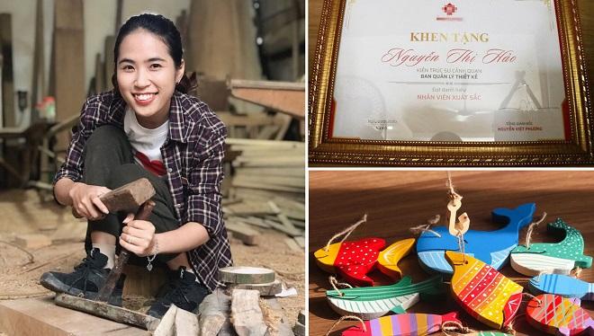 """Mẹ trẻ bỏ công việc kiếm 30 triệu/tháng để làm... thợ mộc vì muốn """"khắc tiếp ước mơ của bố"""""""
