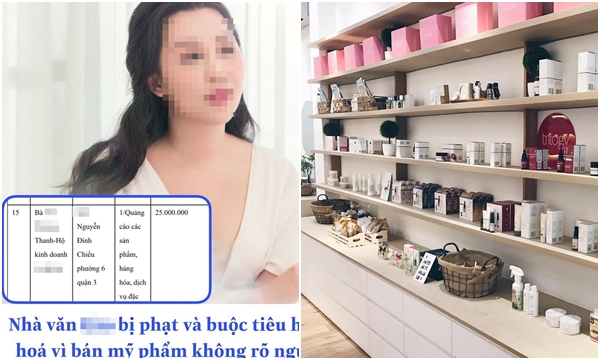 Hóng: Thương hiệu mỹ phẩm của nữ nhà văn ngôn tình Việt nổi tiếng bị xử phạt 25 triệu vì kinh doanh sản phẩm không rõ nguồn gốc, xuất xứ