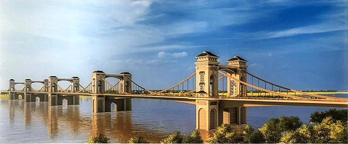 Lộ diện hình ảnh cầu Trần Hưng Đạo nối quận Hoàn Kiếm và Long Biên