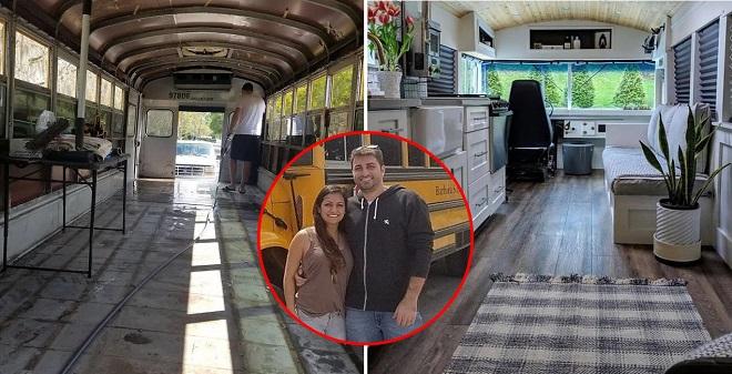 Phượt bằng xe buýt: Cặp đôi biến một chiếc xe buýt cũ thành ngôi nhà đầy đủ tiện nghi để thỏa đam mê du lịch