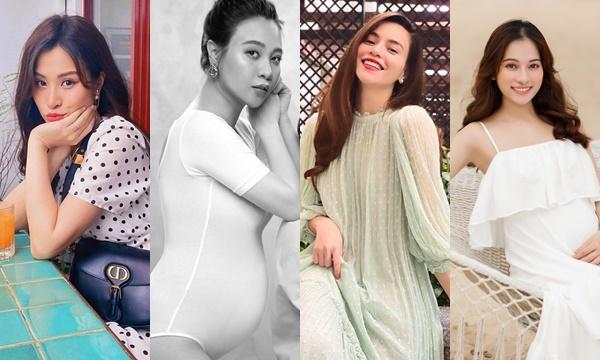 Cận cảnh nhan sắc những mẹ bầu hot nhất Vbiz: Nhìn mãi chẳng thấy có dấu hiệu nào của bầu bí