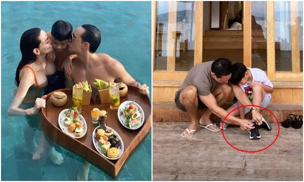 Hà Hồ ngày càng tự hào về Kim Lý, liên tục khoe ảnh bạn trai chăm sóc Subeo như con đẻ