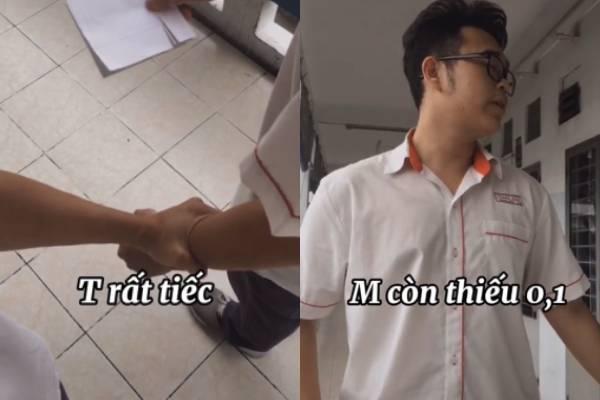 Học sinh làm clip hài hước nói về bi kịch xem điểm thi thiếu 0,1 điểm, dân tình đồng cảm sâu sắc