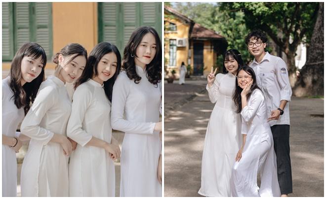 """Nữ sinh trường Chu Văn An tiếp tục """"tỏa nắng"""" với áo dài trắng trong ngày bế giảng ngập tràn cảm xúc"""