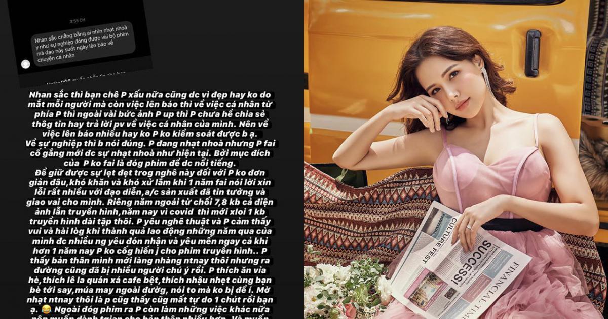 Diễn viên Phanh Lee bức xúc đáp trả anti-fan làm tổn thương mình, chê sự nghiệp nhạt nhòa, mượn đời tư để nổi tiếng