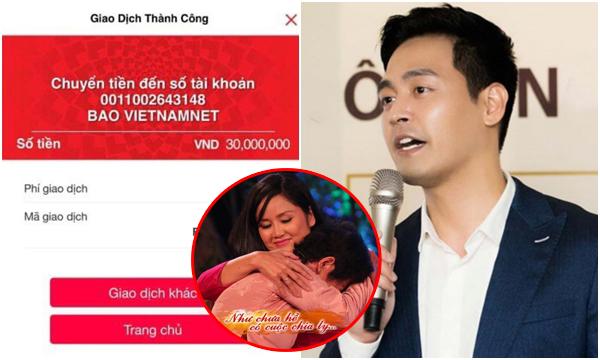 """Sau Hà Anh Tuấn ủng hộ 3 tỷ, MC Phan Anh cũng đóng góp 30 triệu đồng cho """"Như chưa hề có cuộc chia ly"""""""