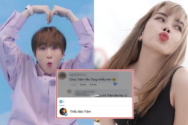"""Thiều Bảo Trâm ngầm công khai đang hẹn hò với Sơn Tùng, thích luôn bình luận này: """"Chúc Trâm yêu Tùng nhiều hơn"""""""