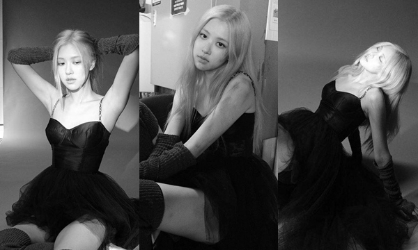 """Diện little black dress và giày ballet, Rose đẹp ma mị quyến rũ trong hình tượng """"Black swan"""" xứ Hàn"""