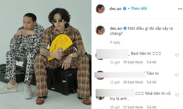 """Mặc kệ fan đồn đại, Decao chuyển style phối đồ lạ mắt với chiếc quạt giấy trong post """"tiên tri vũ trụ"""" của mình"""