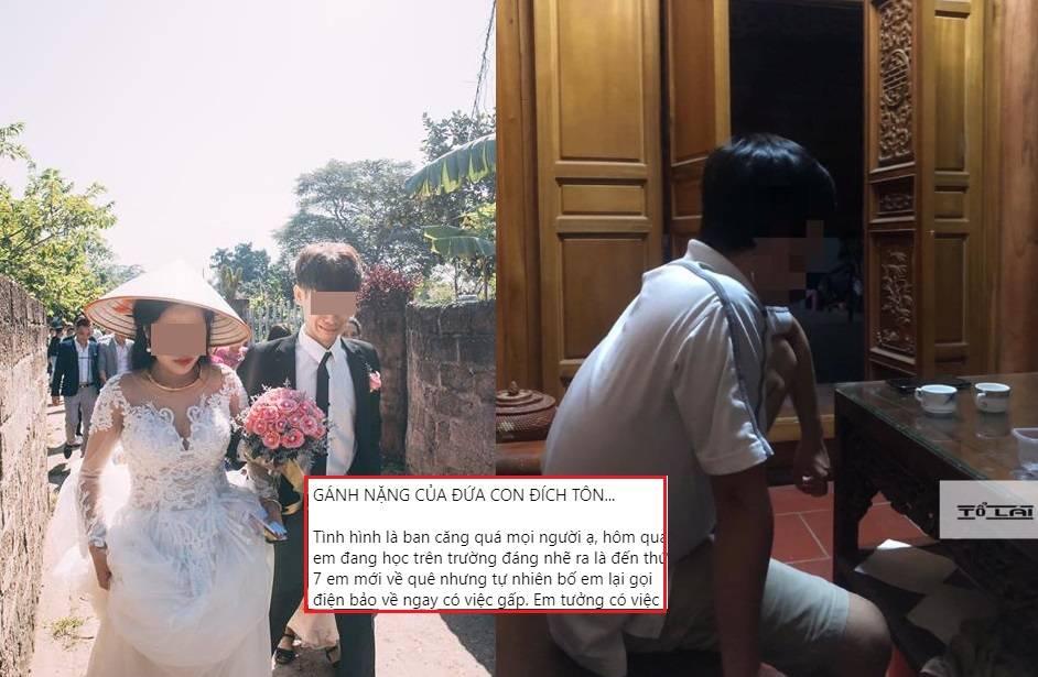 """Gánh nặng """"cháu đích tôn"""": Đang đi học, chàng trai bị bố bắt về nhà gấp để cưới cô nàng xóm bên"""