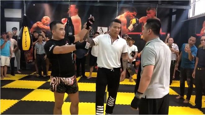 Võ sư Nam Anh Kiệt thua đối thủ nghiệp dư