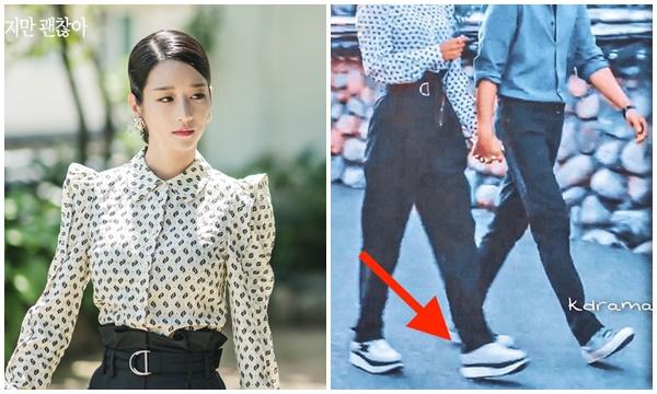 Lần đầu tiên thấy Seo Ye Ji mặc quần áo gọn gàng sau cả 9 tập phim, nhưng đôi giày mix cùng lại hơi lạc quẻ