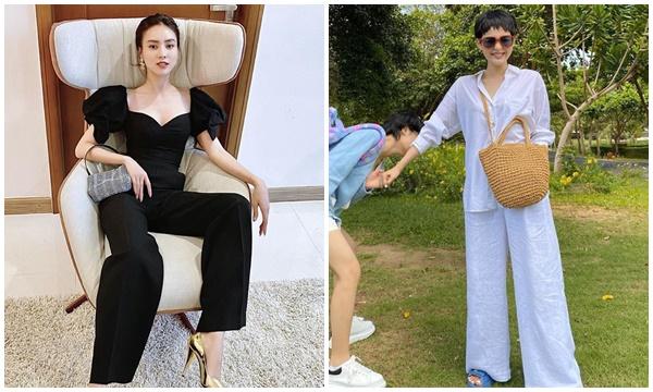 Mỹ nhân Việt mix quần ống rộng: Lan Ngọc phối áo blouse sang chảnh, Hiền Hồ chọn sơ mi kín đáo