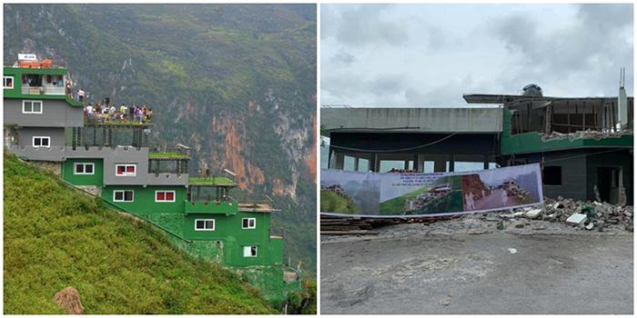 Phá dỡ, cải tạo tòa nhà trái phép Mã Pì Lèng Panorama thành điểm dừng chân ngắm cảnh