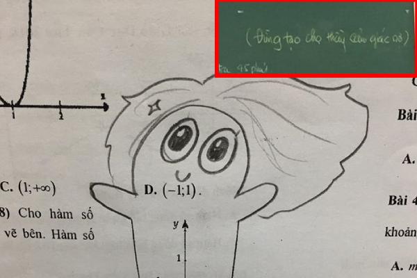 """Học sinh """"lầy lội"""" vẽ vời giờ ôn toán, thầy thì """"sợ"""" cách ôn tập của trò trước thềm thi tốt nghiệp THPT"""