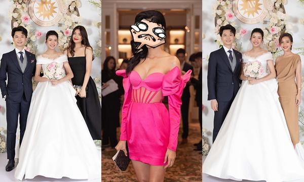 Giữa dàn 250 khách mời, Hoàng Thùy vẫn chơi trội phá đám dresscode trong đám cưới của Thúy Vân