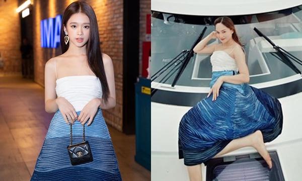 """Lỡ """"đụng"""" váy với đàn chị, Linh Ka chứng tỏ gu phối đồ """"không phải dạng vừa"""" đâu"""