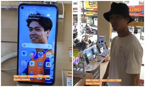Tưởng đâu Công Phượng nghỉ đá bóng đi chụp ảnh mẫu bán điện thoại, hóa ra là bị bạn troll