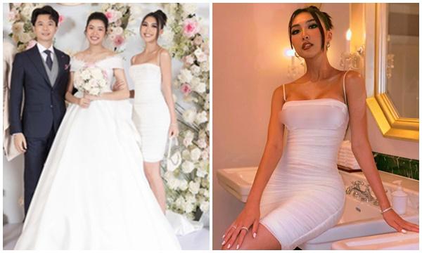"""Sau scandal """"bán hoa"""", Tường Linh sexy nóng bỏng đến dự đám cưới Thúy Vân nhưng lại bị soi một chi tiết lộ liễu"""