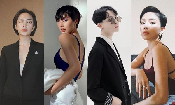 """4 mỹ nhân Vbiz dám thách thức chuẩn mực """"Con gái phải để tóc dài"""" khiến loạt fan nữ còn phải mê mẩn"""