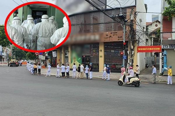 Xúc động hình ảnh nhân viên y tế xếp hàng dài vào khu cách ly, sẵn sàng hỗ trợ Bệnh viện Đà Nẵng