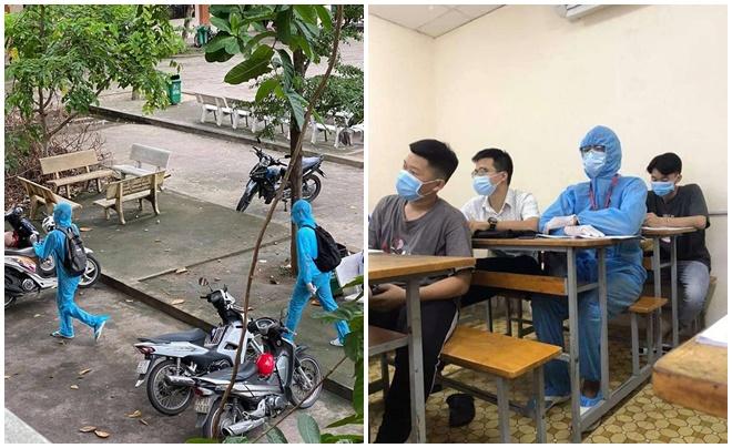 Đỉnh cao chống dịch học đường: Trời nóng vẫn mặc đồ bảo hộ kín mít khiến bạn học tưởng đang học cùng nhân viên y tế