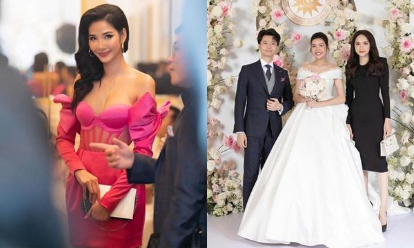 Thời trang đám cưới: Hoàng Thùy rực rỡ bị chê kém duyên, đen từ đầu đến chân như Hương Giang lại được khen không ngớt