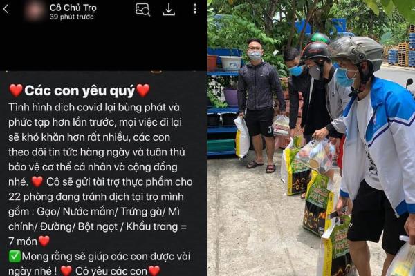 """Cô chủ nhà trọ Đà Nẵng gửi tin nhắn động viên """"đính kèm"""" quà tặng thiết thực khiến cộng đồng mạng """"thả tim"""""""