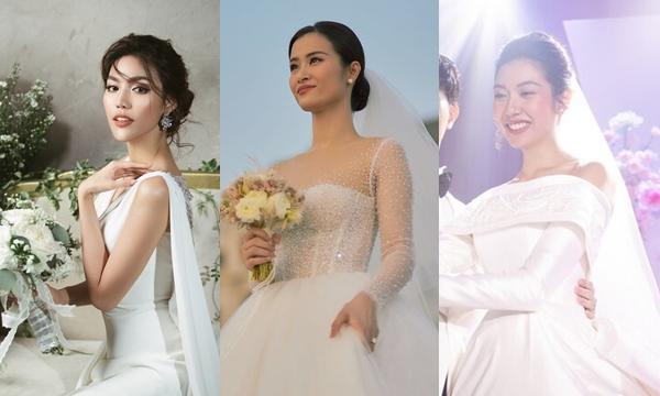 """Bóc giá trang phục lên xe hoa của mỹ nhân Việt: chiếc """"sương sương"""" nhất cũng phải tính bằng chục triệu"""