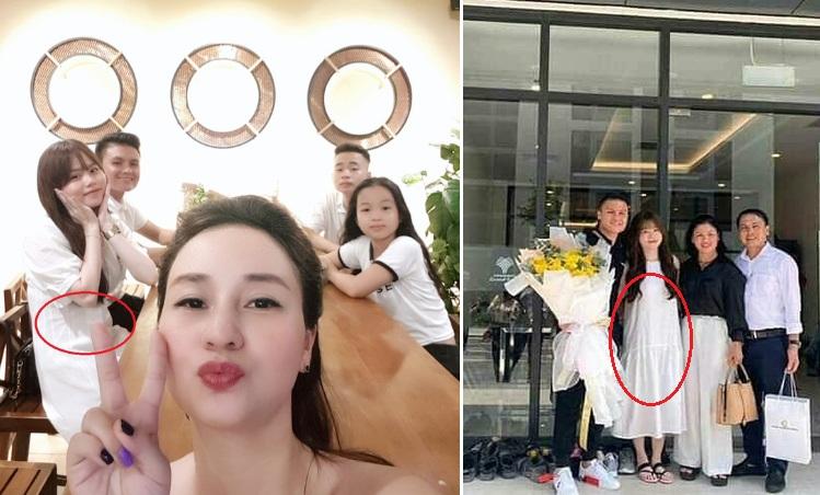 """Bạn gái Quang Hải liên tiếp lộ vòng 2 to bất thường khiến fans nghi ngờ đã có """"tin vui"""""""