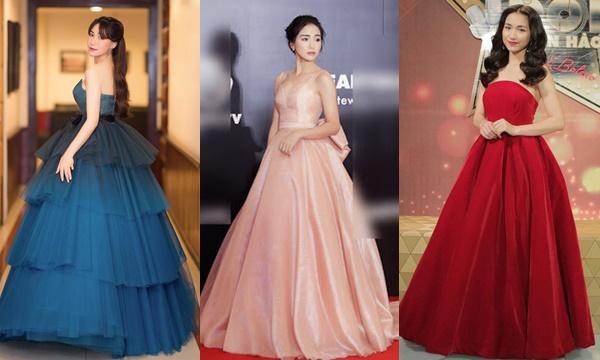 """Chiều cao khiêm tốn, vóc dáng mảnh mai, Hòa Minzy cực """"ghiền"""" váy """"siêu to khổng lồ"""""""