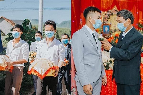Đám cưới mùa dịch: Quan viên hai họ đeo khẩu trang kín mít, đỡ tốn tiền thuê make up