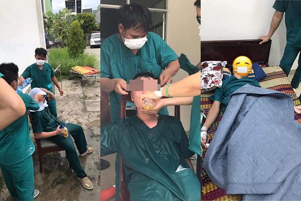 Nghẹn lòng trước hình ảnh y bác sĩ Đà Nẵng sau nhiều ngày chống dịch Covid-19: Người nằm truyền nước, người ngã gục vì mệt mỏi