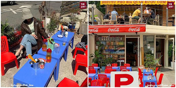"""Một quán nhậu ở Seoul cosplay Tạ Hiện từ """"A tới Z"""": Bàn ghế nhựa, đồ nhắm, kiểu gì cũng tưởng ở Việt Nam"""