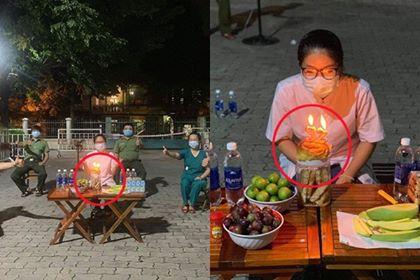 Nghẹn ngào khoảnh khắc nữ trung úy công an Đà Nẵng đón sinh nhật không bánh kem, không gia đình trong khu cách ly