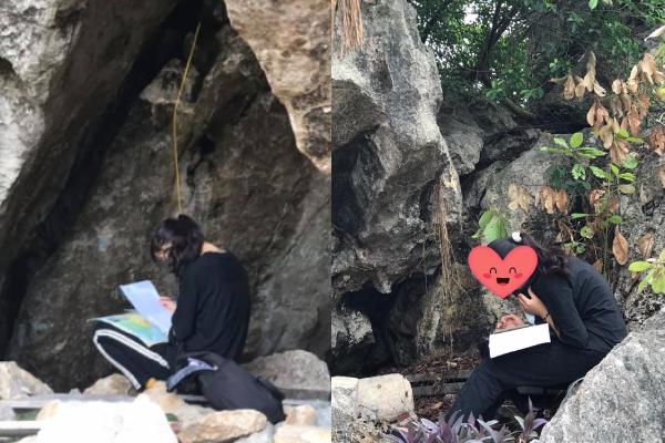 """Đỉnh cao ôn thi: Nữ sinh lên núi học bài ngày """"nước rút"""" khiến dân mạng thán phục"""