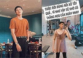 """Noo Phước Thịnh mặc váy tập gym khiến dân mạng """"hết hồn"""": Xin hãy trả lại anh Noo của ngày hôm qua"""