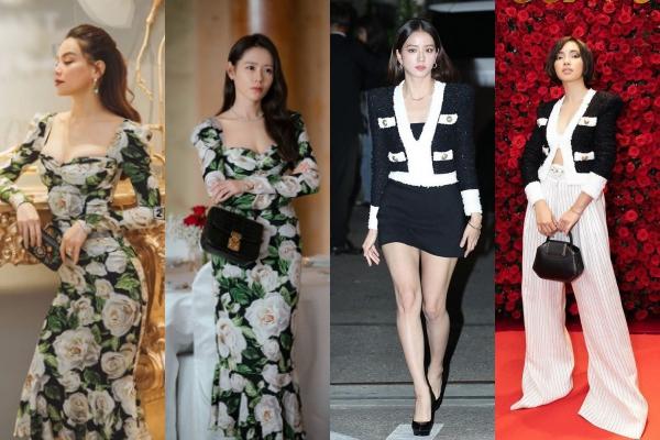 """Khi dàn mỹ nhân Việt """"đụng độ"""" váy áo với minh tinh xứ Hàn: Liệu ai sẽ chiếm thế thượng phong?"""