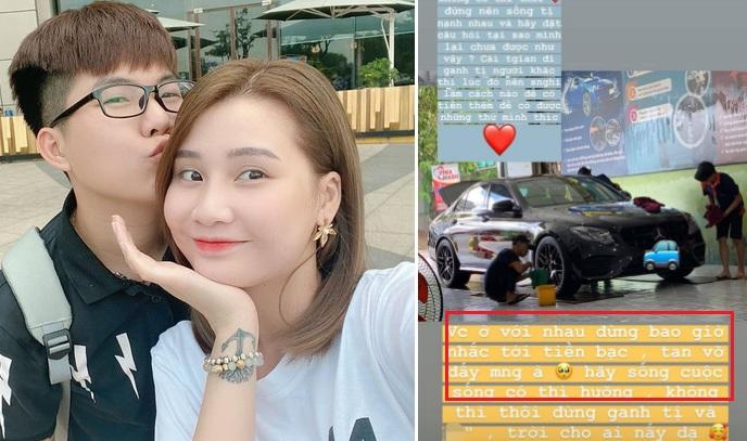 Vừa được vợ mua tặng xe tiền tỉ, chồng hot mom Thanh Trần bất ngờ chia sẻ quan điểm hôn nhân tan vỡ vì tiền