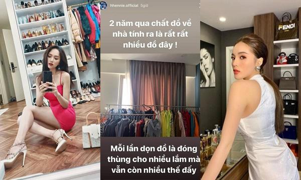 """Hoa hậu nào cũng tủ lớn tủ nhỏ riêng tủ đồ hiệu của H'Hen Niê trông không khác gì """"sạp đồ thanh lý"""""""