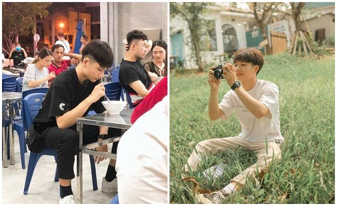 """Trai đẹp 2k1 """"gây thương nhớ"""" với khoảnh khắc chụp lén khi đang mải ngồi ăn chè"""
